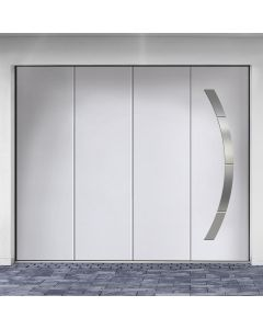 Porte de garage sectionnelle latérale isolante, RÉSIDENCE ISOLPERFORMANCE isolation renforcée par compression sur les 4 joints12 galets de blocage minimum et une motorisation de série avec moteur à crémaillère, 7 ans de garantie Disponible chez monsieur s